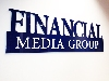 Financial Media Group - plastické logo na zeď